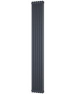 Alpha - Anthracite Vertical Column Radiator H1800mm x W284mm 2 Column