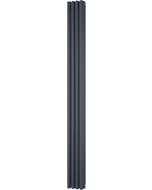 Alpha - Anthracite Vertical Column Radiator H1800mm x W198mm 3 Column