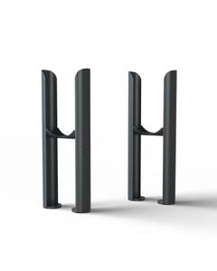 Alpha - Column Radiator Feet - 2 Column Anthracite