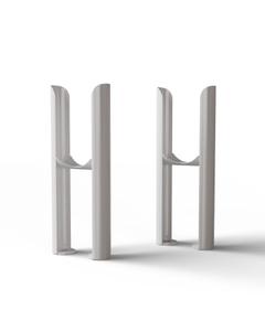 Alpha - Column Radiator Feet - 2 Column White
