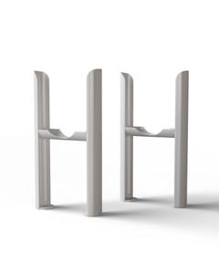 Alpha - Column Radiator Feet - 3 Column White