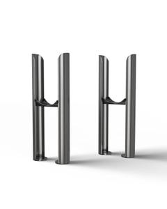 Alpha - Column Radiator Feet - 2 Column Raw Metal