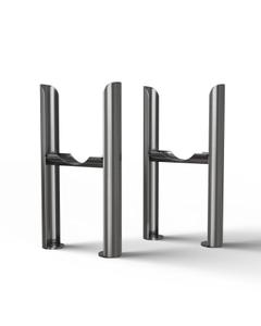 Alpha - Column Radiator Feet - 3 Column Raw Metal