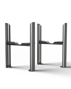 Alpha - Column Radiator Feet - 4 Column Raw Metal