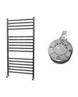 Ascot - Stainless Steel Electric Towel Rail H1000mm x W500mm Straight 600w Thermostatic