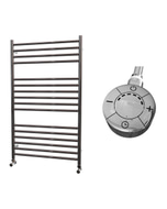 Ascot - Stainless Steel Electric Towel Rail H1000mm x W600mm Straight 600w Thermostatic