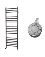 Ascot - Stainless Steel Electric Towel Rail H1200mm x W400mm Straight 600w Thermostatic