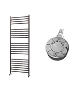Ascot - Stainless Steel Electric Towel Rail H1400mm x W500mm Straight 600w Thermostatic