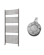Ascot - Stainless Steel Electric Towel Rail H1400mm x W600mm Straight 1000w Thermostatic