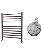 Ascot - Stainless Steel Electric Towel Rail H600mm x W500mm Straight 300w Thermostatic