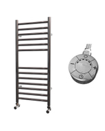 Ascot - Stainless Steel Electric Towel Rail H800mm x W350mm Straight 300w Thermostatic