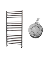 Ascot - Stainless Steel Electric Towel Rail H1000mm x W500mm Curved 600w Thermostatic
