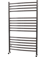 Ascot - Stainless Steel Heated Towel Rail - H1000mm x W600mm - Curved