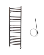 Ascot - Stainless Steel Electric Towel Rail H1200mm x W400mm Curved 500w Standard