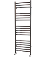 Ascot - Stainless Steel Heated Towel Rail - H1200mm x W400mm - Curved