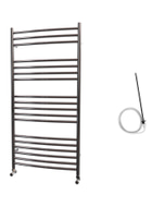 Ascot - Stainless Steel Electric Towel Rail H1200mm x W600mm Curved 600w Standard