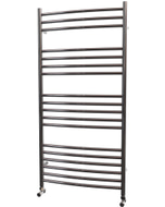 Ascot - Stainless Steel Heated Towel Rail - H1200mm x W600mm - Curved