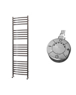 Ascot - Stainless Steel Electric Towel Rail H1400mm x W400mm Curved 600w Thermostatic