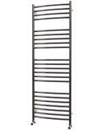 Ascot - Stainless Steel Heated Towel Rail - H1400mm x W500mm - Curved