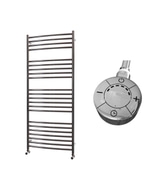 Ascot - Stainless Steel Electric Towel Rail H1400mm x W600mm Curved 1000w Thermostatic