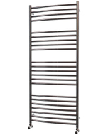 Ascot - Stainless Steel Heated Towel Rail - H1400mm x W600mm - Curved
