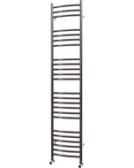 Ascot - Stainless Steel Heated Towel Rail - H1600mm x W350mm - Curved