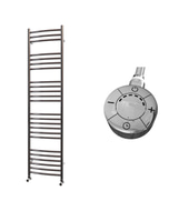 Ascot - Stainless Steel Electric Towel Rail H1600mm x W400mm Curved 600w Thermostatic