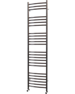 Ascot - Stainless Steel Heated Towel Rail - H1600mm x W400mm - Curved