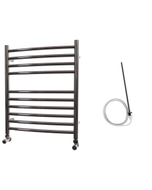 Ascot - Stainless Steel Electric Towel Rail H600mm x W500mm Curved 300w Standard