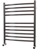 Ascot - Stainless Steel Heated Towel Rail - H600mm x W500mm - Curved
