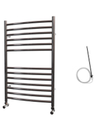 Ascot - Stainless Steel Electric Towel Rail H800mm x W500mm Curved 400w Standard