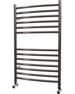 Ascot - Stainless Steel Heated Towel Rail - H800mm x W500mm - Curved
