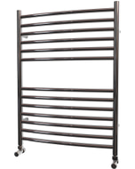 Ascot - Stainless Steel Heated Towel Rail - H800mm x W600mm - Curved