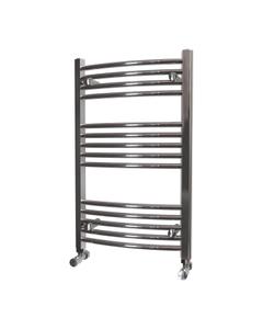 K-Rail - Chrome Heated Towel Rail - H800mm x W500mm - Curved