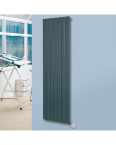 Mars Electro - Anthracite Vertical Electric Radiator H900mm x W370mm 300w Standard