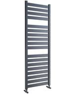 Capri - Anthracite Towel Radiator - H1420mm x W500mm - Straight