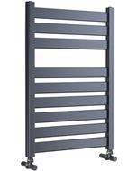 Capri - Anthracite Towel Radiator - H719mm x W500mm - Straight