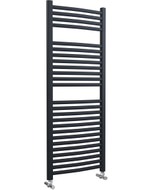 Roma - Anthracite Heated Towel Rail - H1230mm x W500mm - Curved