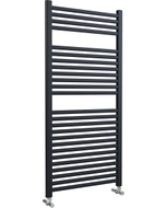 Roma - Anthracite Heated Towel Rail - H1230mm x W600mm - Straight