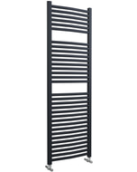 Roma - Anthracite Heated Towel Rail - H1512mm x W500mm - Curved