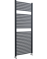 Roma - Anthracite Heated Towel Rail - H1512mm x W600mm - Curved