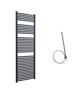 Roma - Anthracite Electric Towel Rail H1785mm x W600mm Curved 600w Standard
