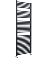 Roma - Anthracite Heated Towel Rail - H1785mm x W600mm - Curved