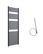 Roma - Anthracite Electric Towel Rail H1785mm x W600mm Straight 600w Standard