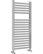 Roma - Chrome Heated Towel Rail - H842mm x W400mm - Straight