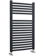 Roma - Anthracite Heated Towel Rail - H842mm x W500mm - Curved