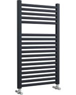 Roma - Anthracite Heated Towel Rail - H842mm x W500mm - Straight