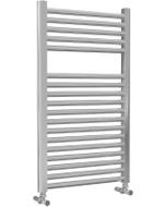 Roma - Chrome Heated Towel Rail - H842mm x W500mm - Straight