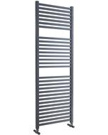 Todi - Anthracite Towel Radiator - H1420mm x W500mm - Straight