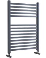 Todi - Anthracite Towel Radiator - H690mm x W500mm - Straight